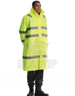Long Reflective Raincoat