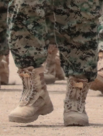THE MILITARY BOOTS